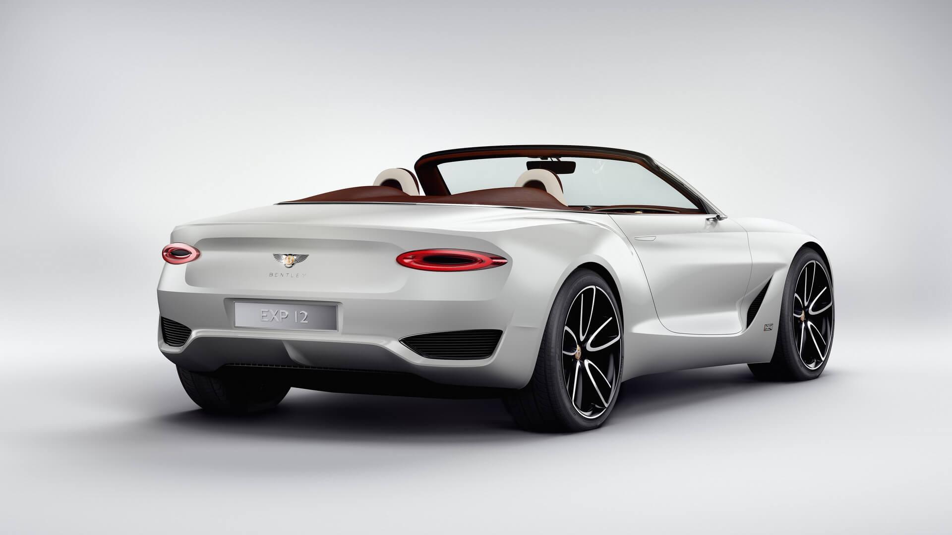 Концепт Bentley EXP12 Speed6e — вид сзади