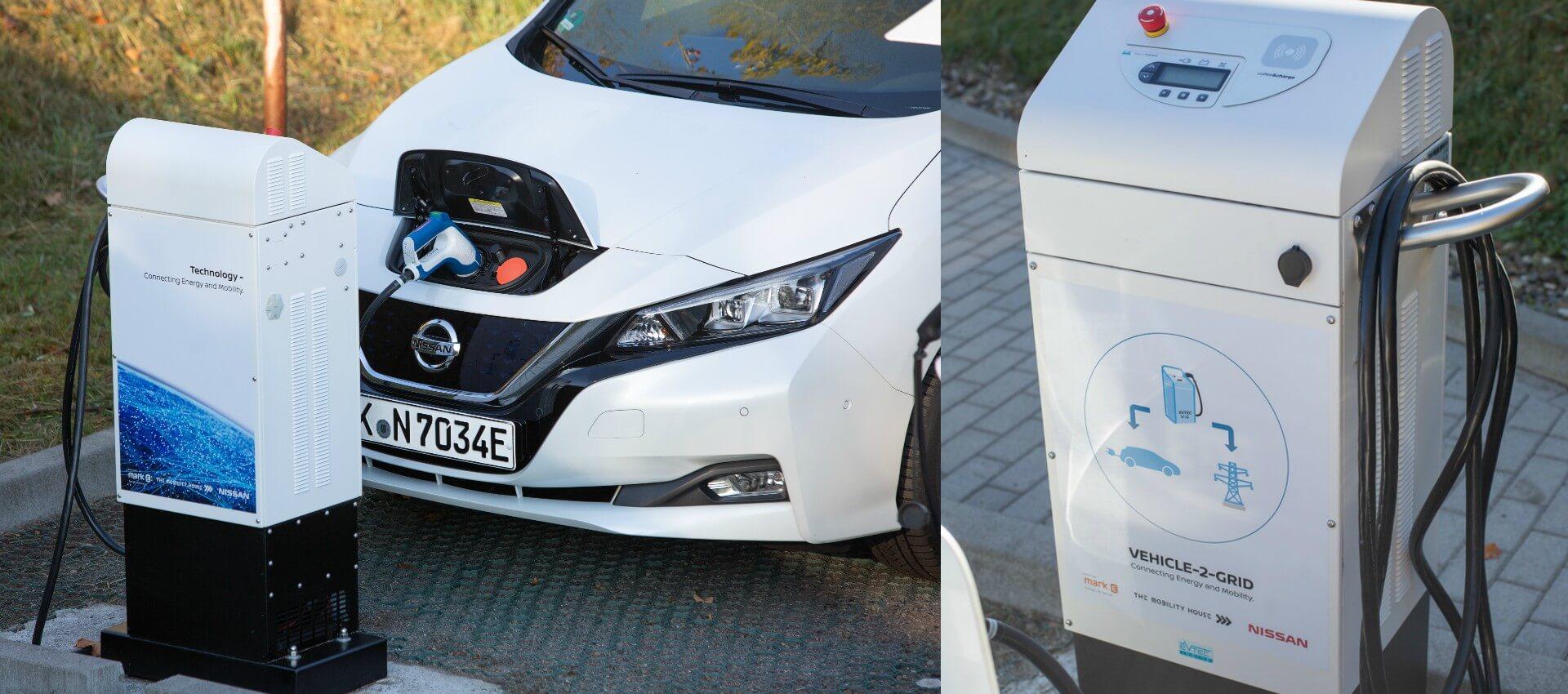 Зарядное устройство с технологией V2G от Nissan