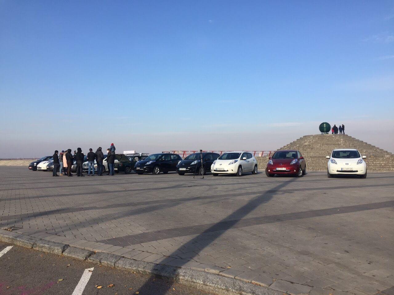 Сбор электромобилистов в Днепре