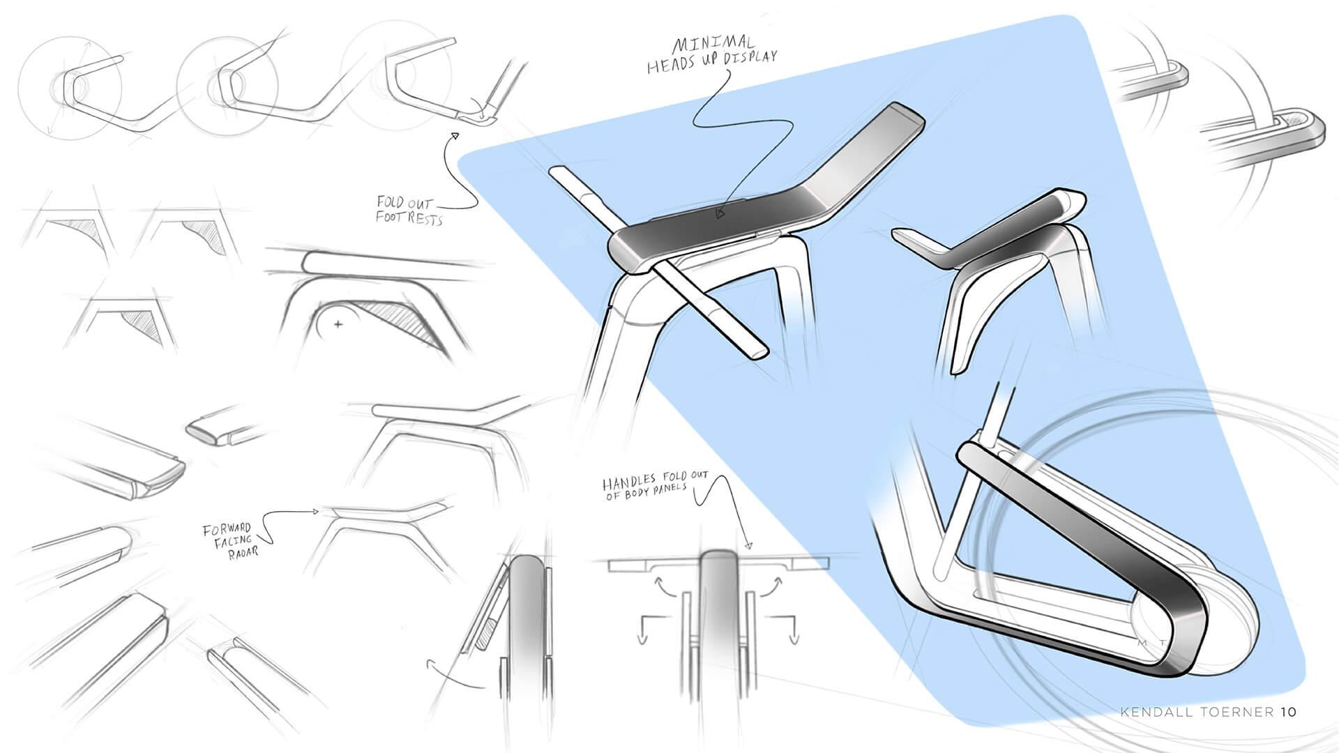 Дизайн электровелосипеда Tesla Model B