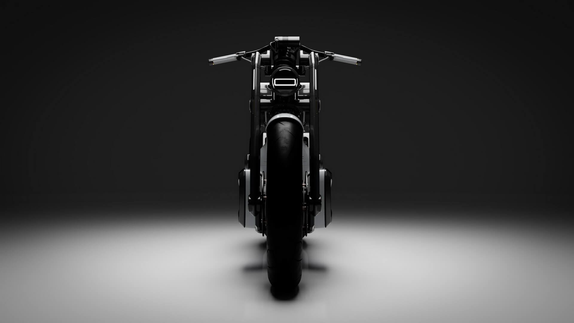 Электрический мотоцикл Zeus Cafe - вид спереди