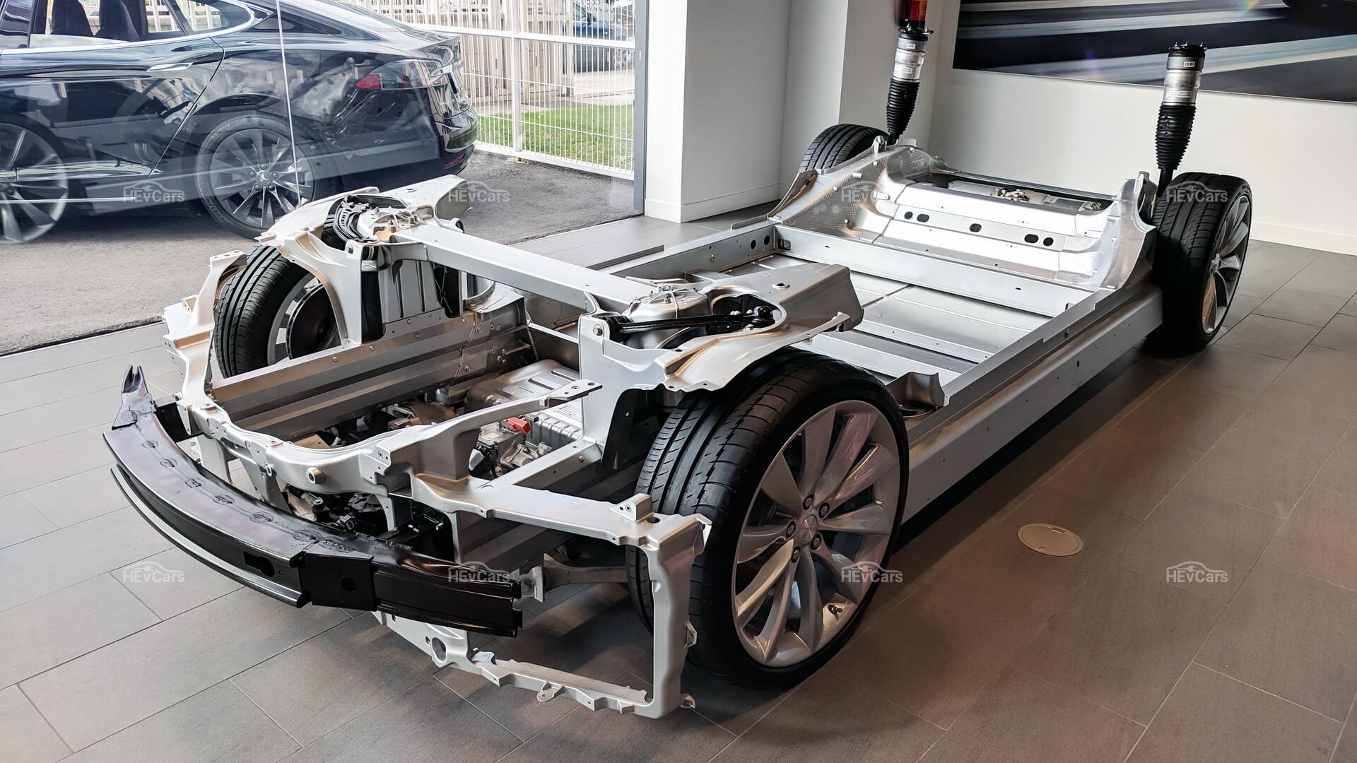 Трансмиссия и силовая установка Tesla Model S