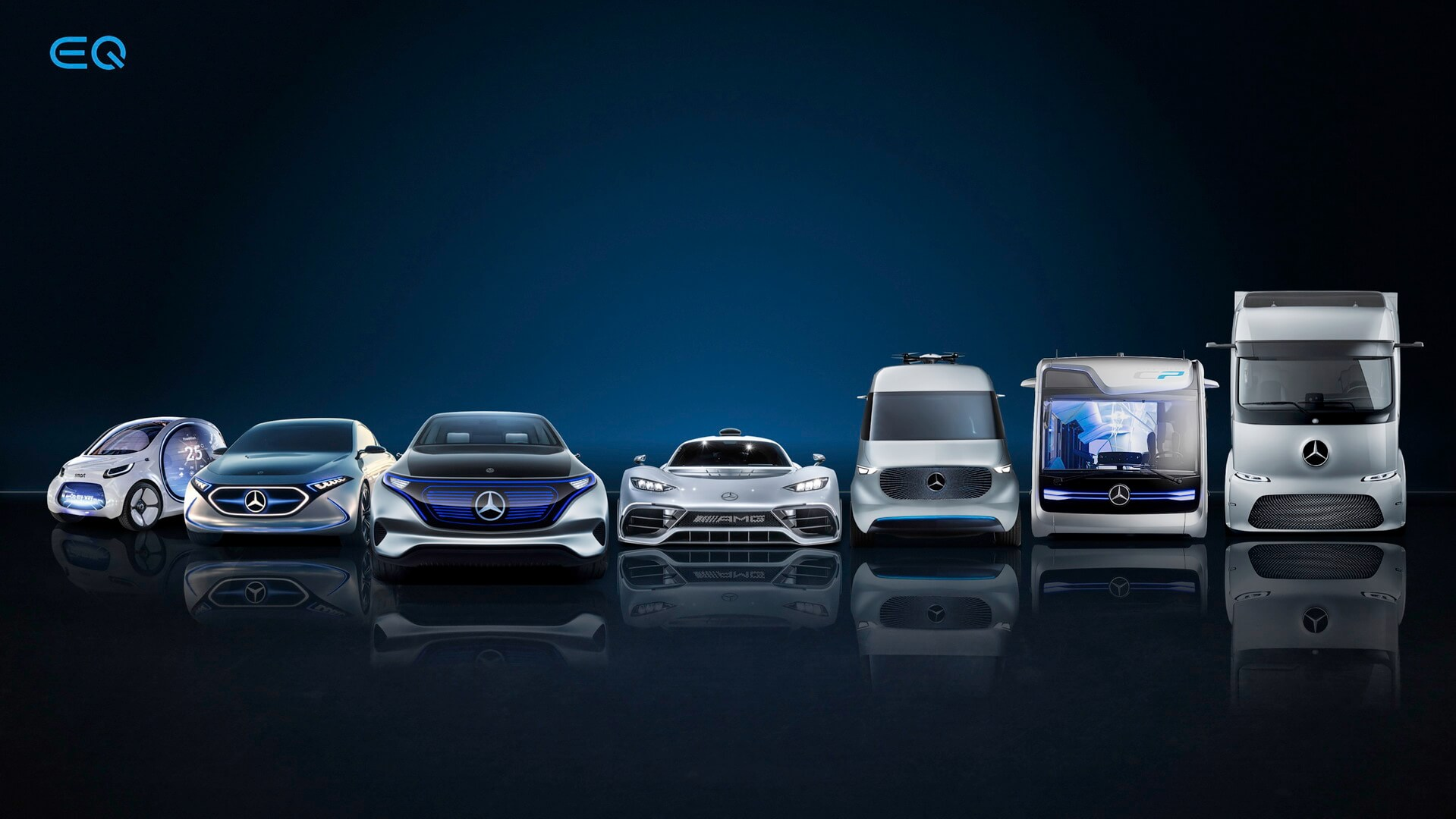 Портфолио электрифицированных автомобилей Daimler