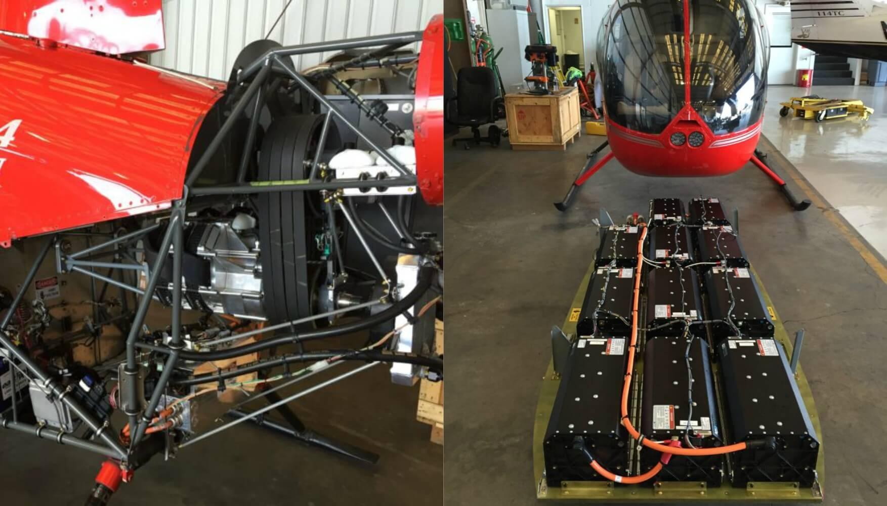 Силовая установка и аккумуляторная батарея электрического вертолета