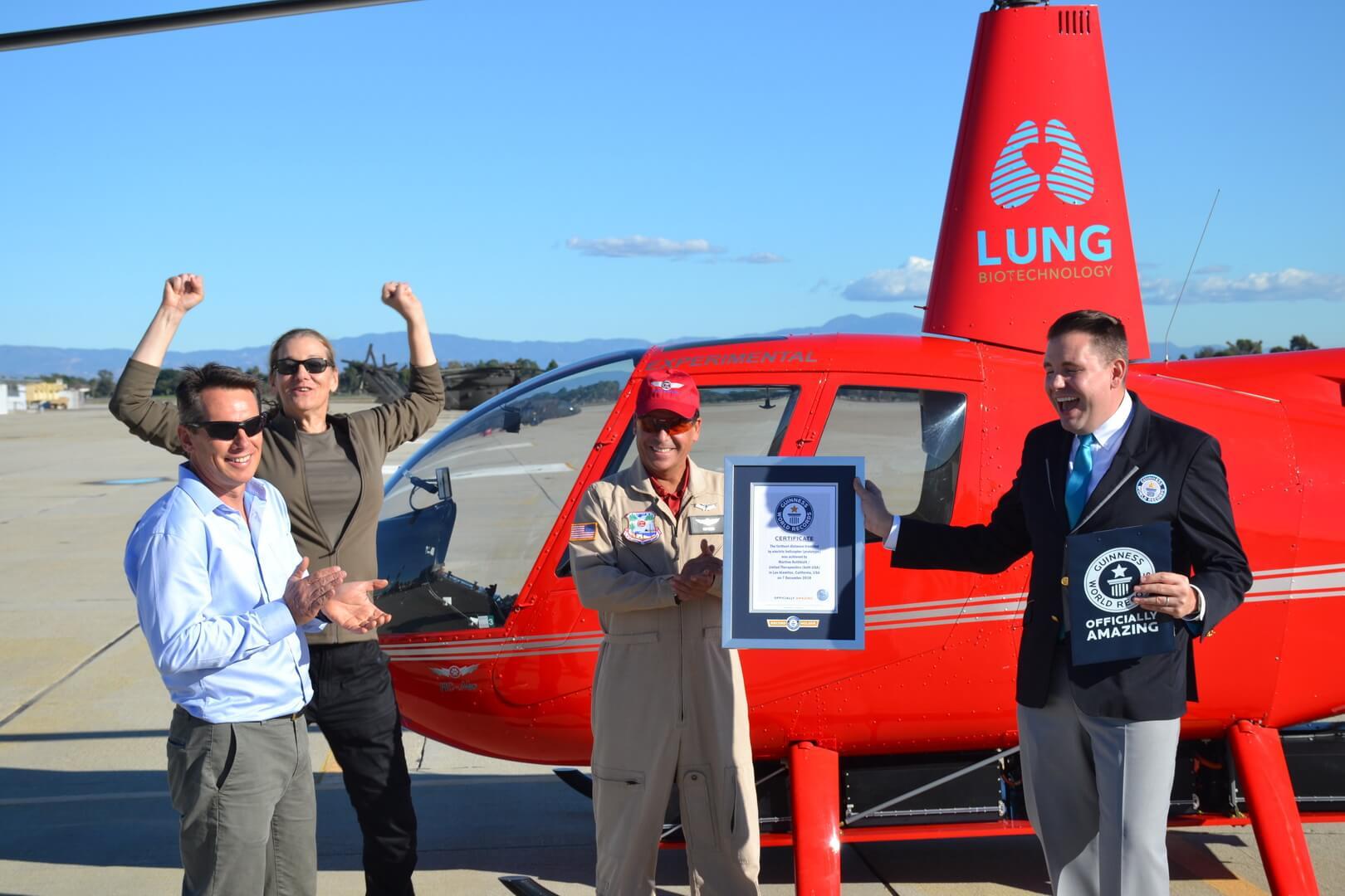 Мировой рекорд Гиннеса за самую дальнюю дистанцию полета на электрическом вертолете