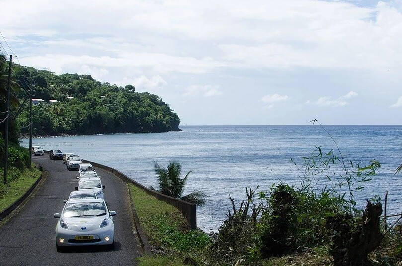 Электромобили на острове Барбадос