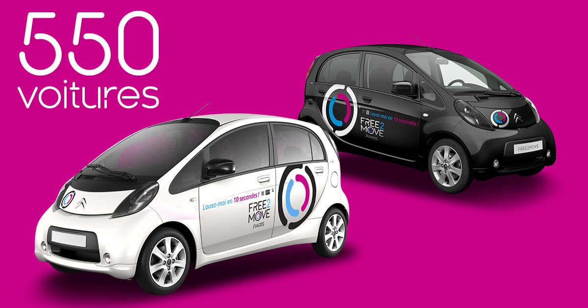550 электромобилей Citroën C-Zero иPeugeot iOn доступных для аренды через Free2Move Paris
