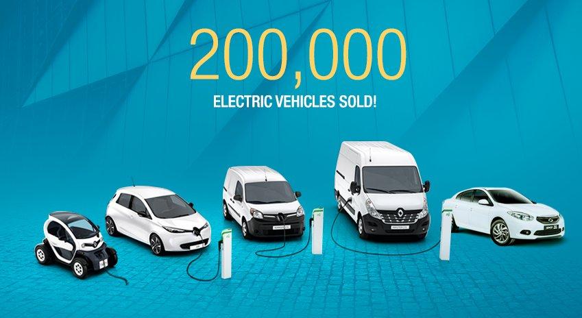 Продажи электромобилей Renault достигли 200 000 автомобилей