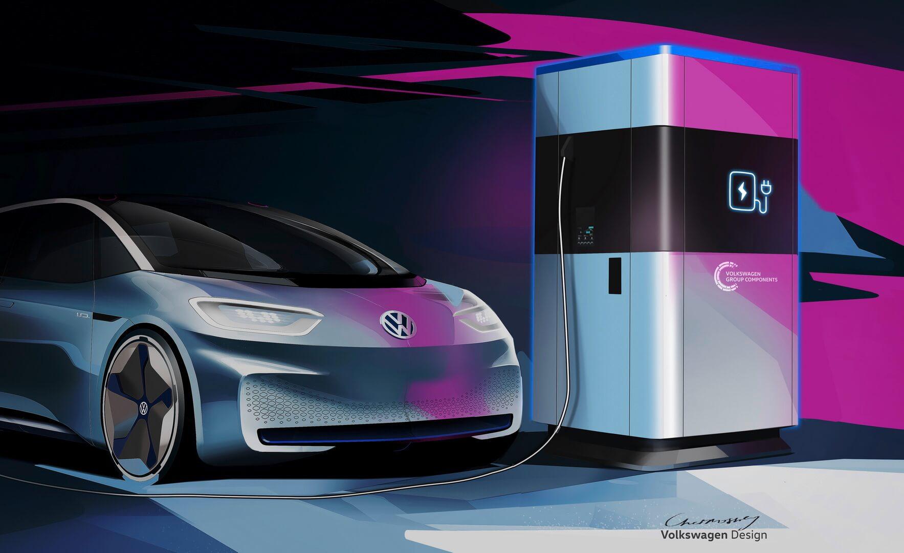 Volkswagen анонсировал проект мобильной зарядной станции с батареей на 360 кВт⋅ч