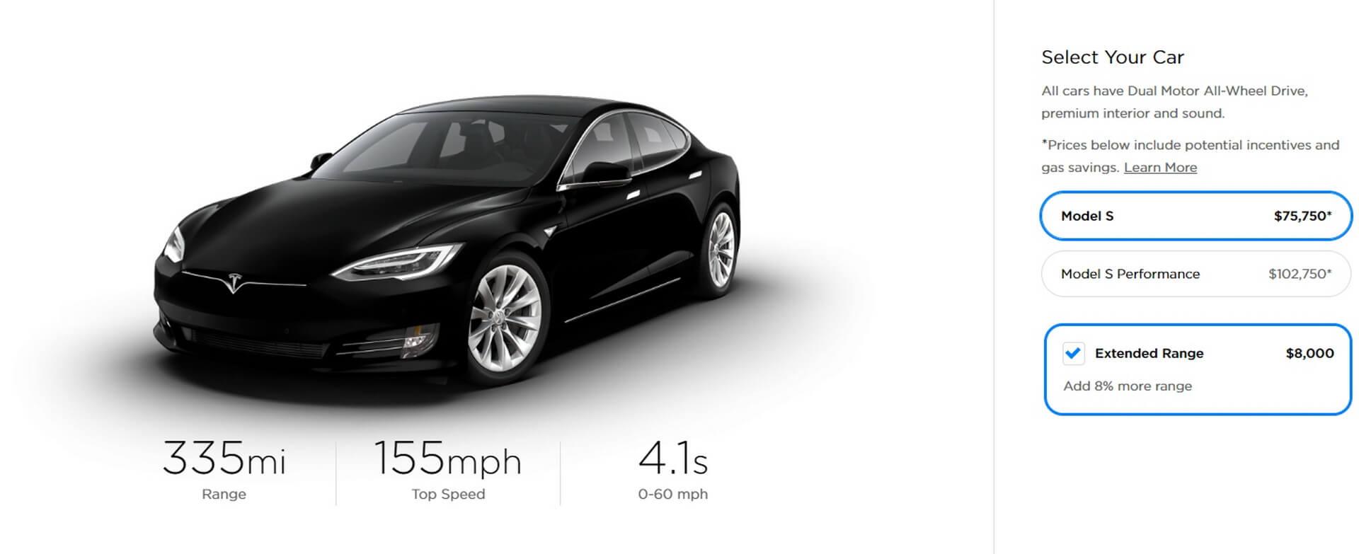 Tesla Model S«Extended Range»