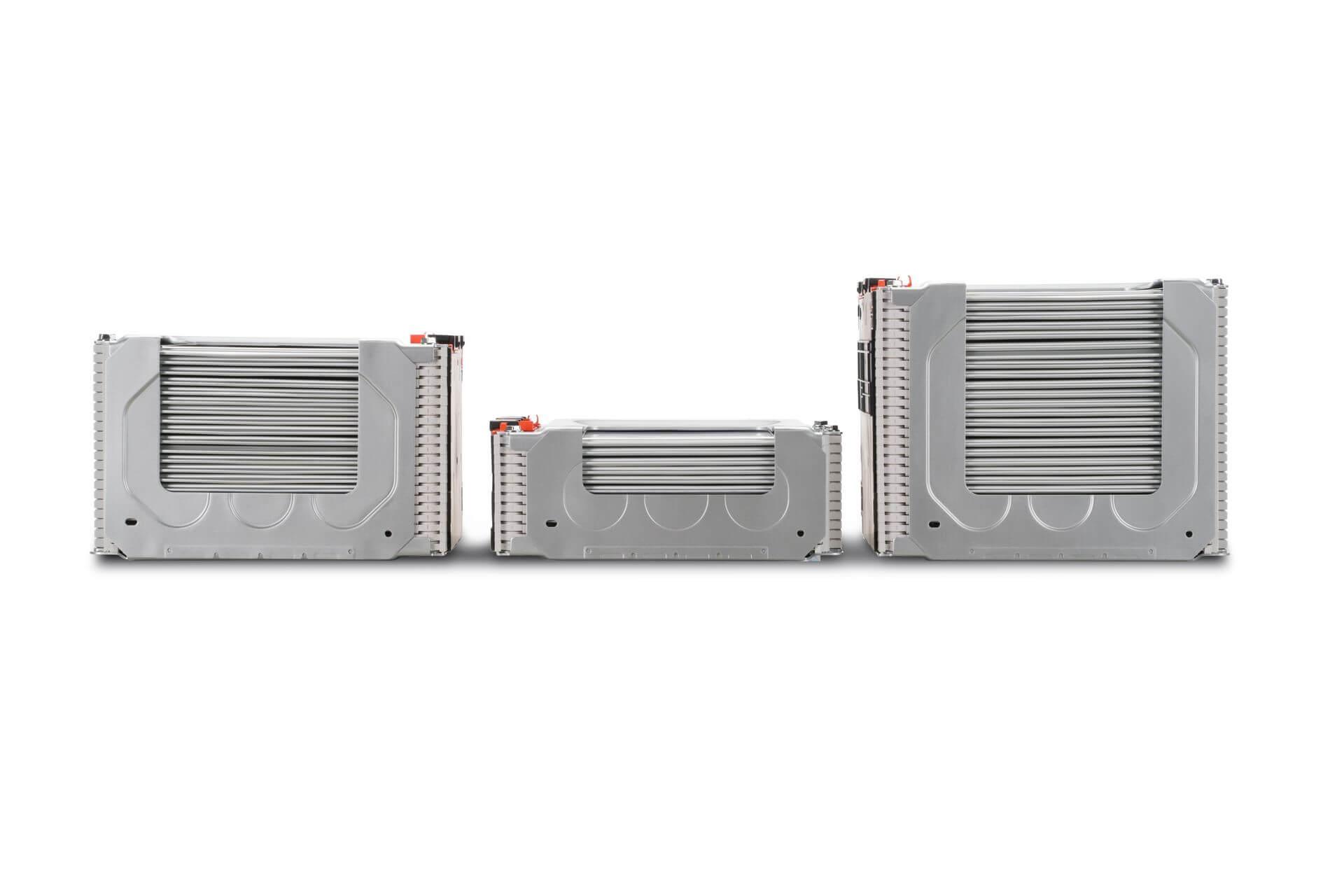 Расположение модулей батареи Nissan Leaf e+ на 62 кВт⋅ч