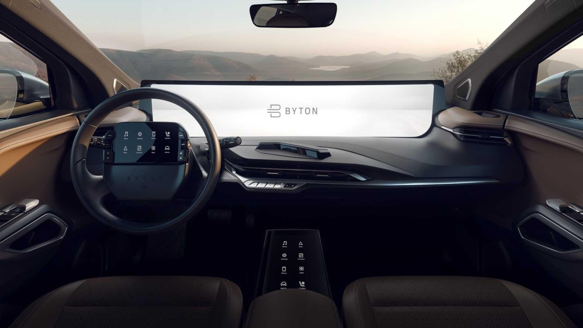 48 дюймовый сенсорный экран центральной консоли BYTON M-Byte