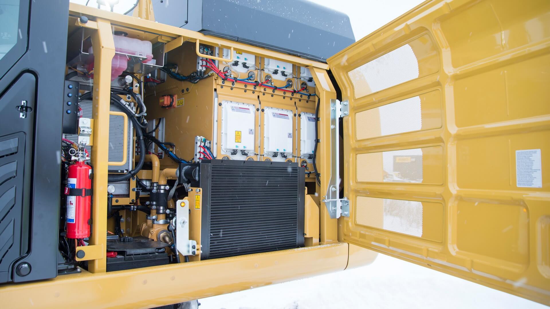Силовая установка и гидравлика электрического 26-тонного экскаватора Caterpillar