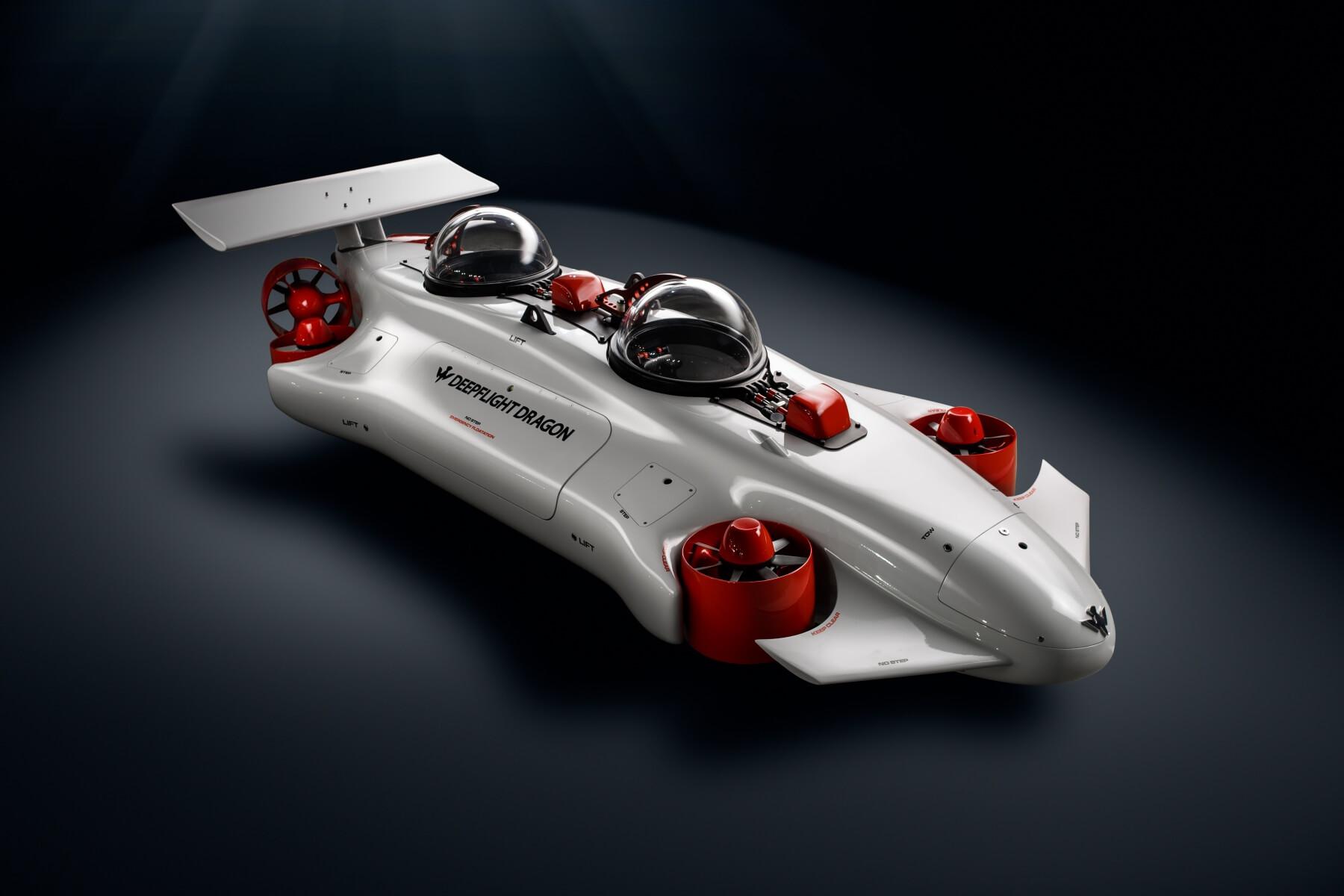 Полностью электрическая субмарина DeepFlightDragon