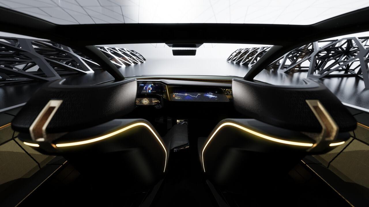 Салон электрического спортивного седана Nissan IMs