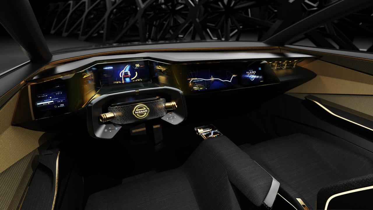Приборная панель электрического спортивного седана Nissan IMs