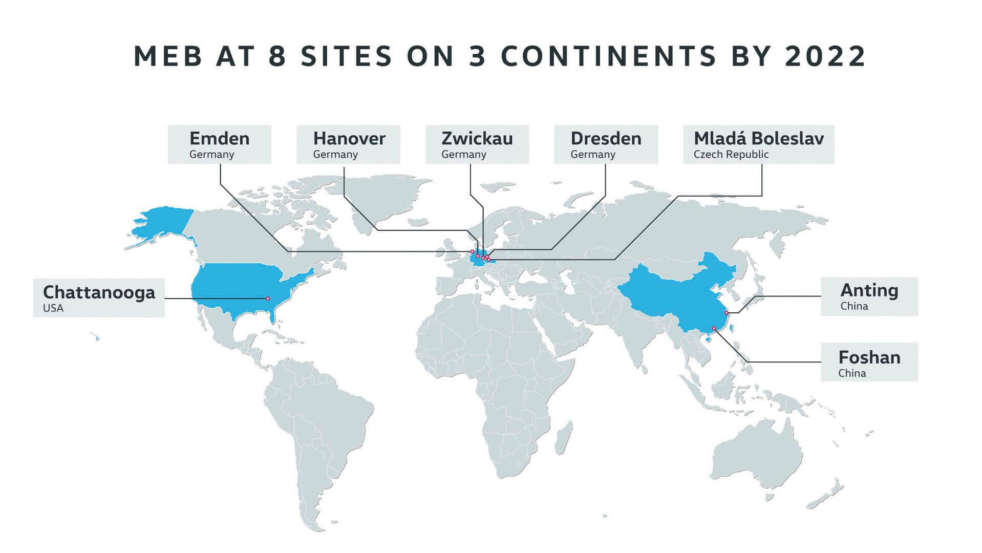 8 заводов на 3 континентах Volkswagen по производству электромобилей на новой платформе MEB