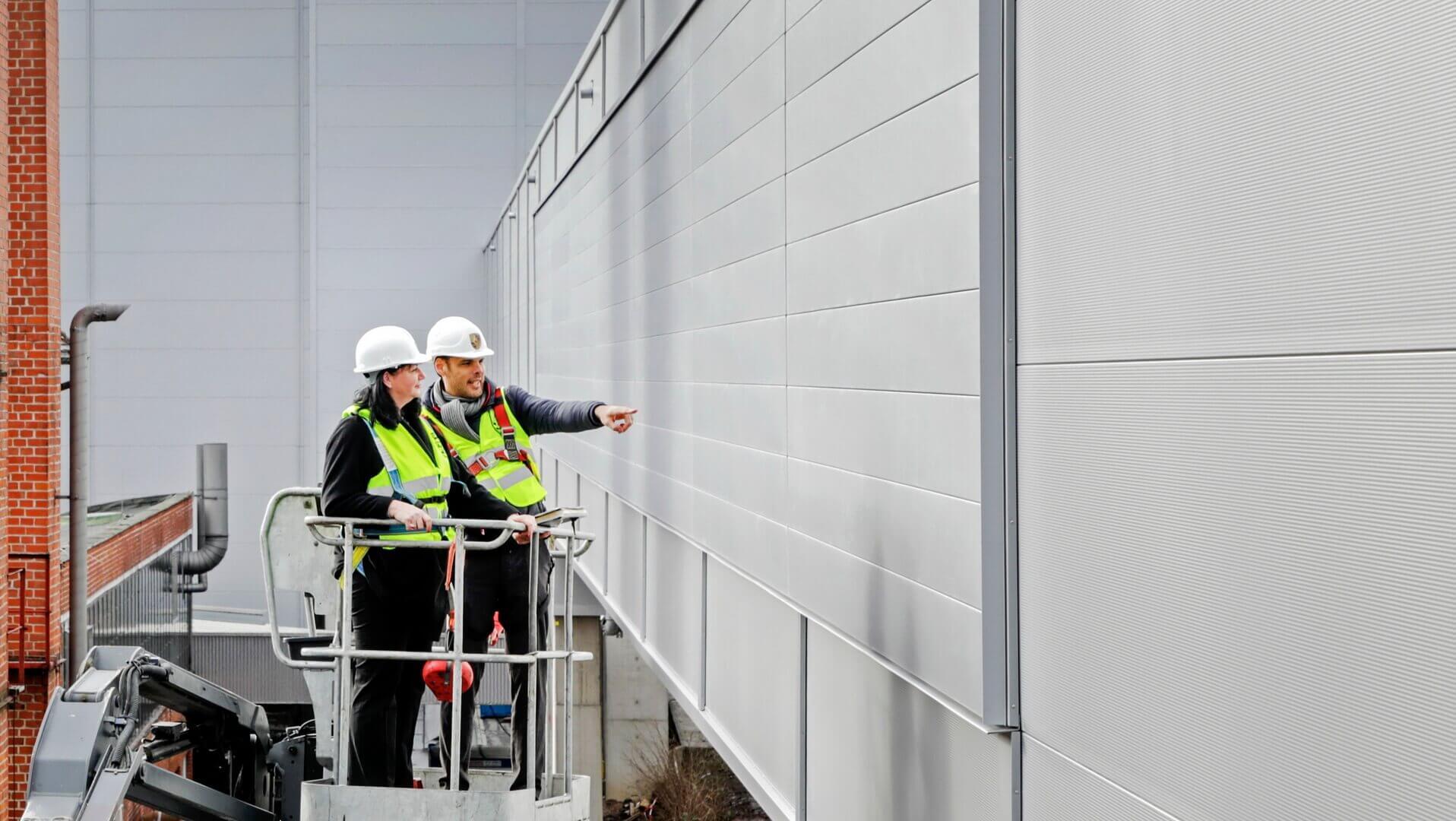 Стены завода Porsche Taycan смогут поглощать диоксид азота