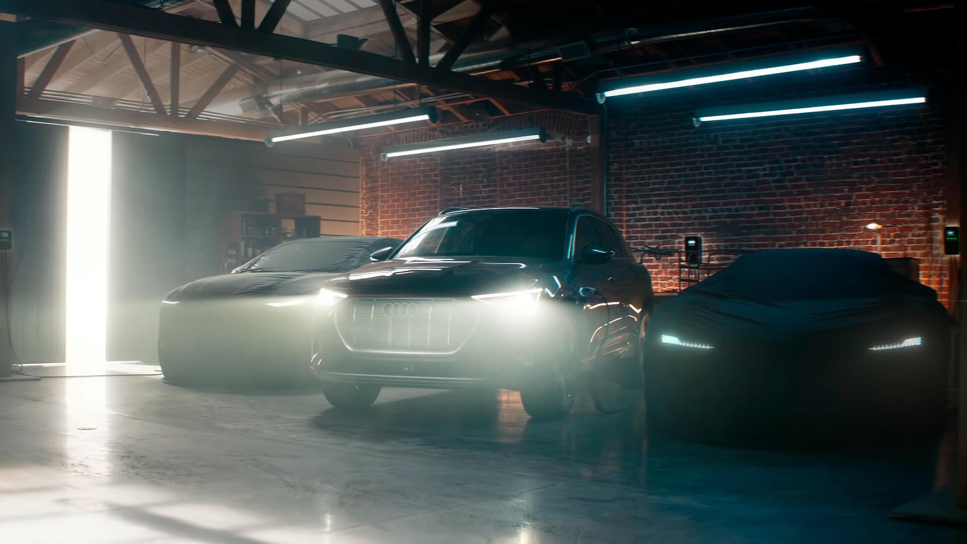 Линейка 3-х электромобилей Audi известных на сегодняшний день
