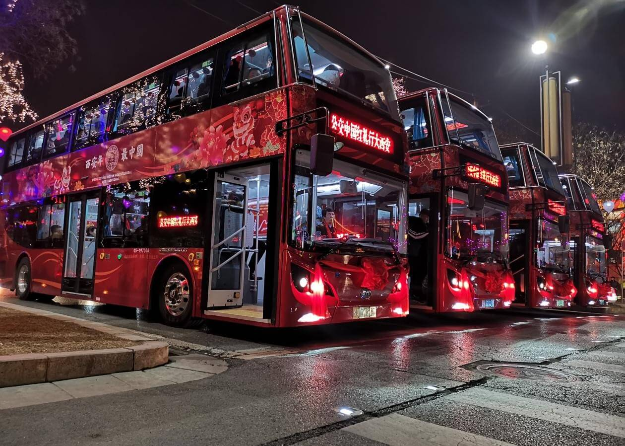 Электрические двухэтажные автобусы BYD
