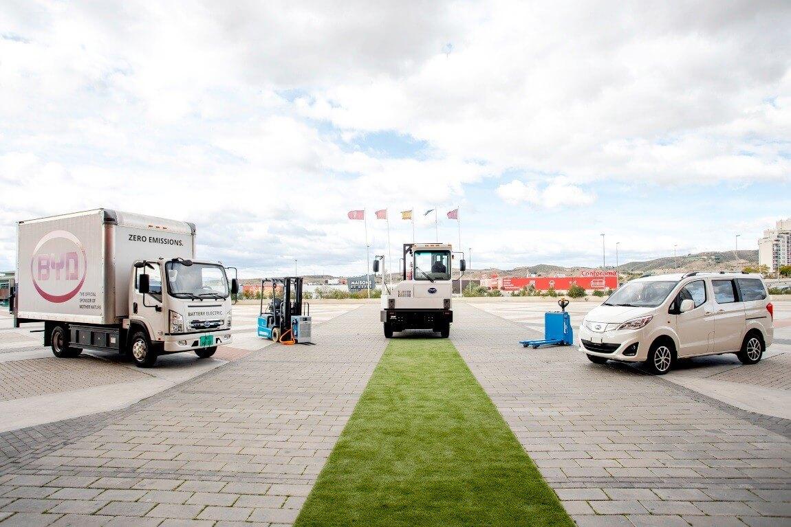 BYD поставляет вЕвропу электрический коммерческий транспорт