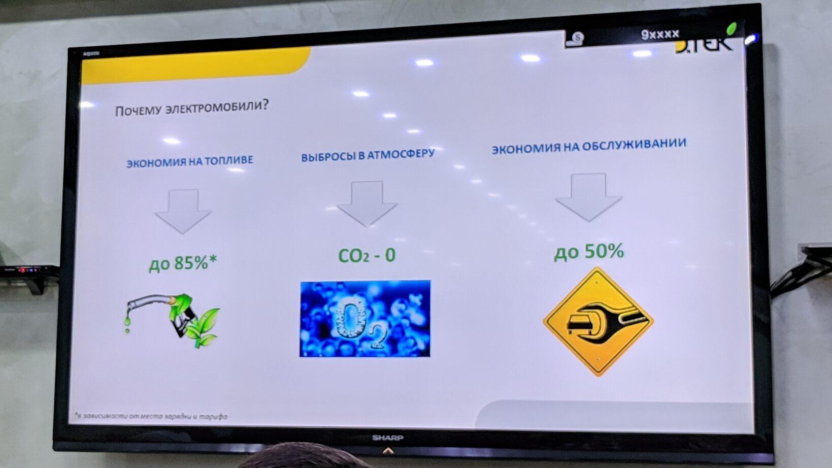 По расчетам компании переход наэлектромобили сократит вредные выбросы СО2на 230 тонн вгод