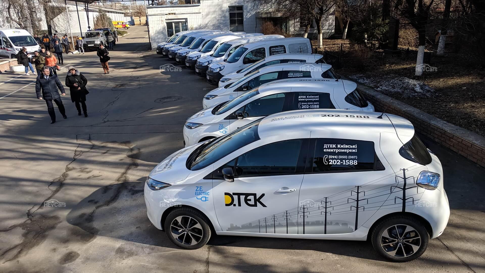 «ДТЭК Киевские электросети» закупили 11 электромобилей Renault