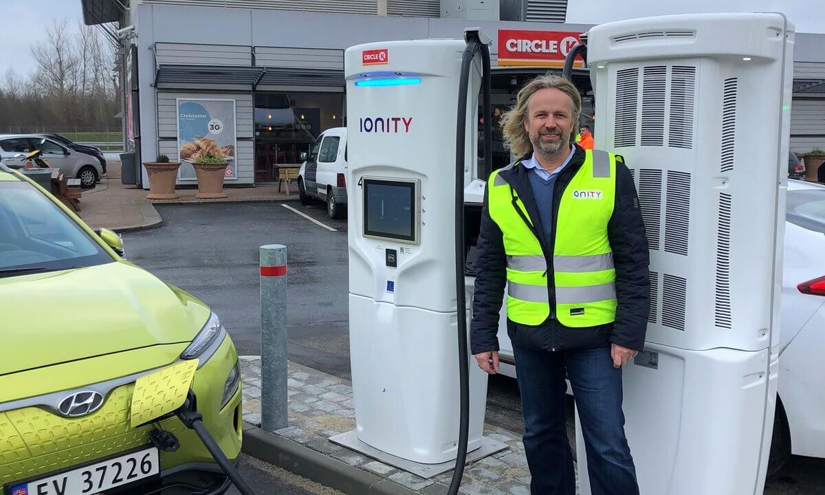 IONITY открывает первую 350 кВт зарядную станцию вДании