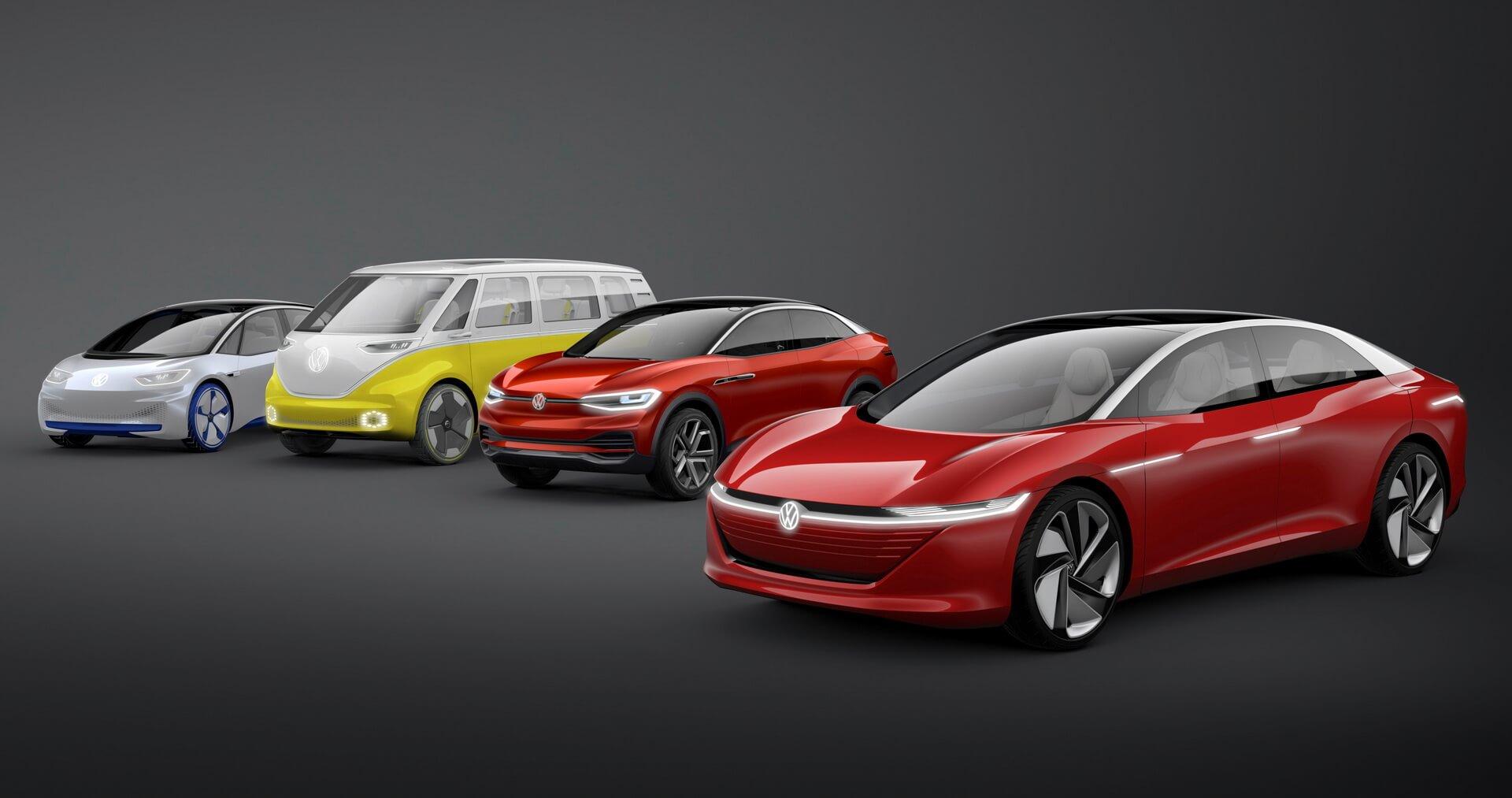 Будущие электромобили Volkswagen изсерии I.D