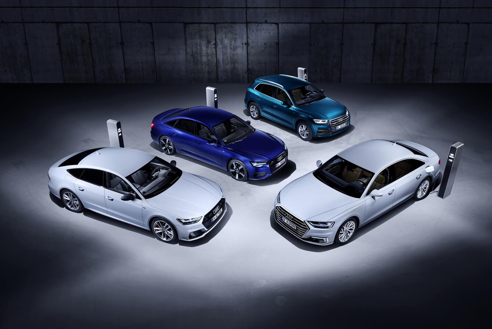 Новые плагин-гибридные модели Audi Q5, A6, A7иA8