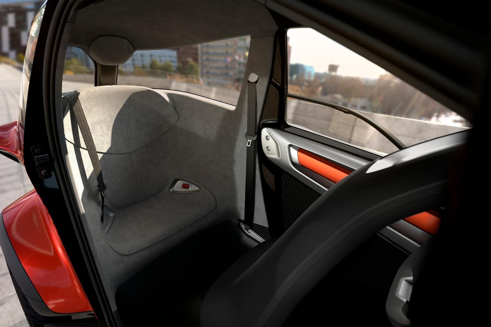 Заднее сиденье в SEAT Minimó