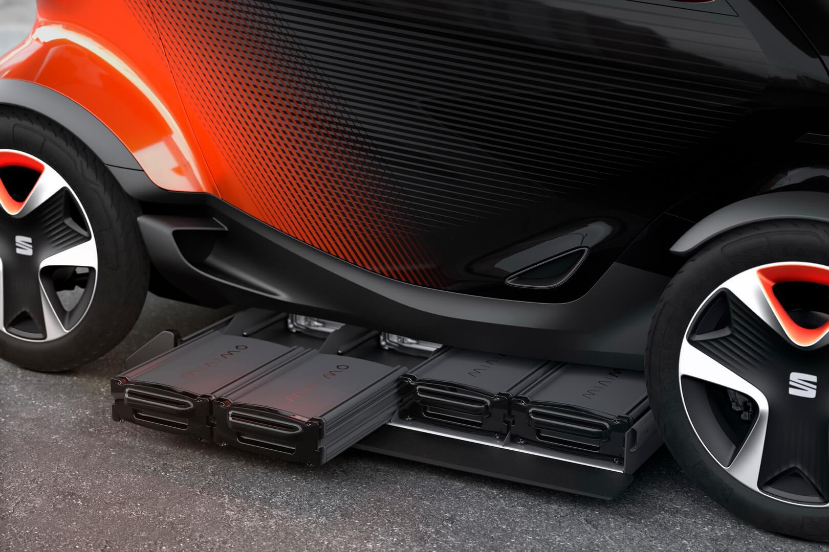 SEAT Minimó имеет встроенную систему замены аккумулятора