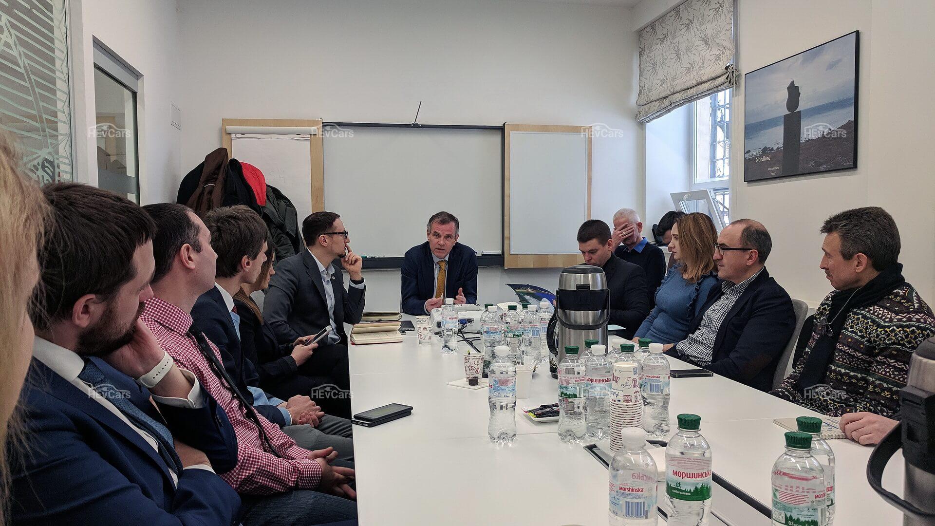 Встреча электромобильного сообщества Украины с Послом Норвегии