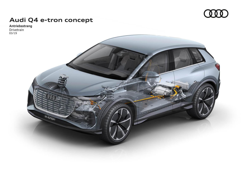 Силовая установка Audi Q4e-tron