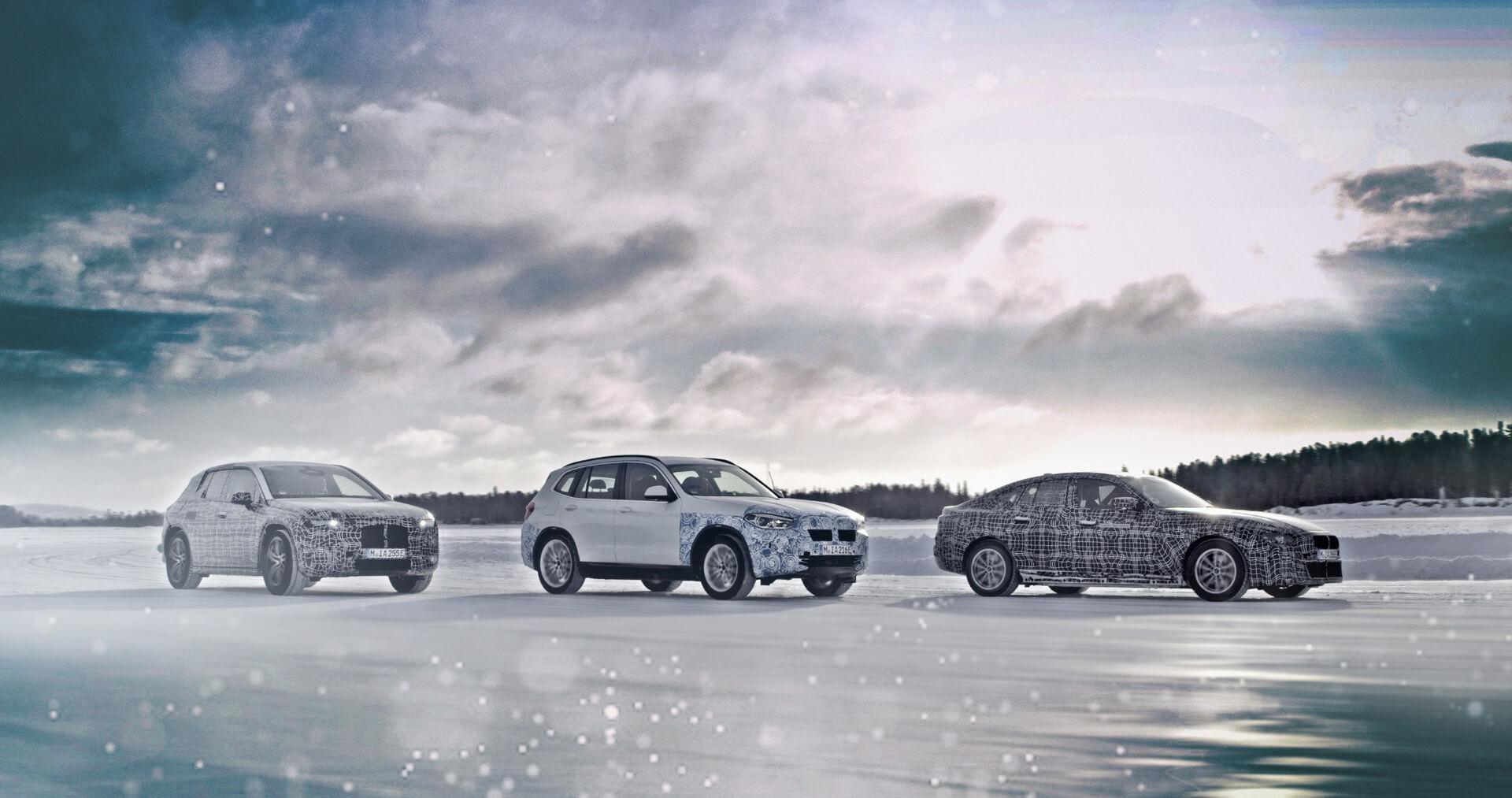 BMW iX3, BMW i4 и BMW iNEXT проходят испытания холодом за Полярным кругом