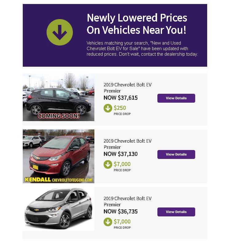 Цены на Chevrolet Bolt умногих дилеров падают из-за выпуска стандартной Tesla Model3