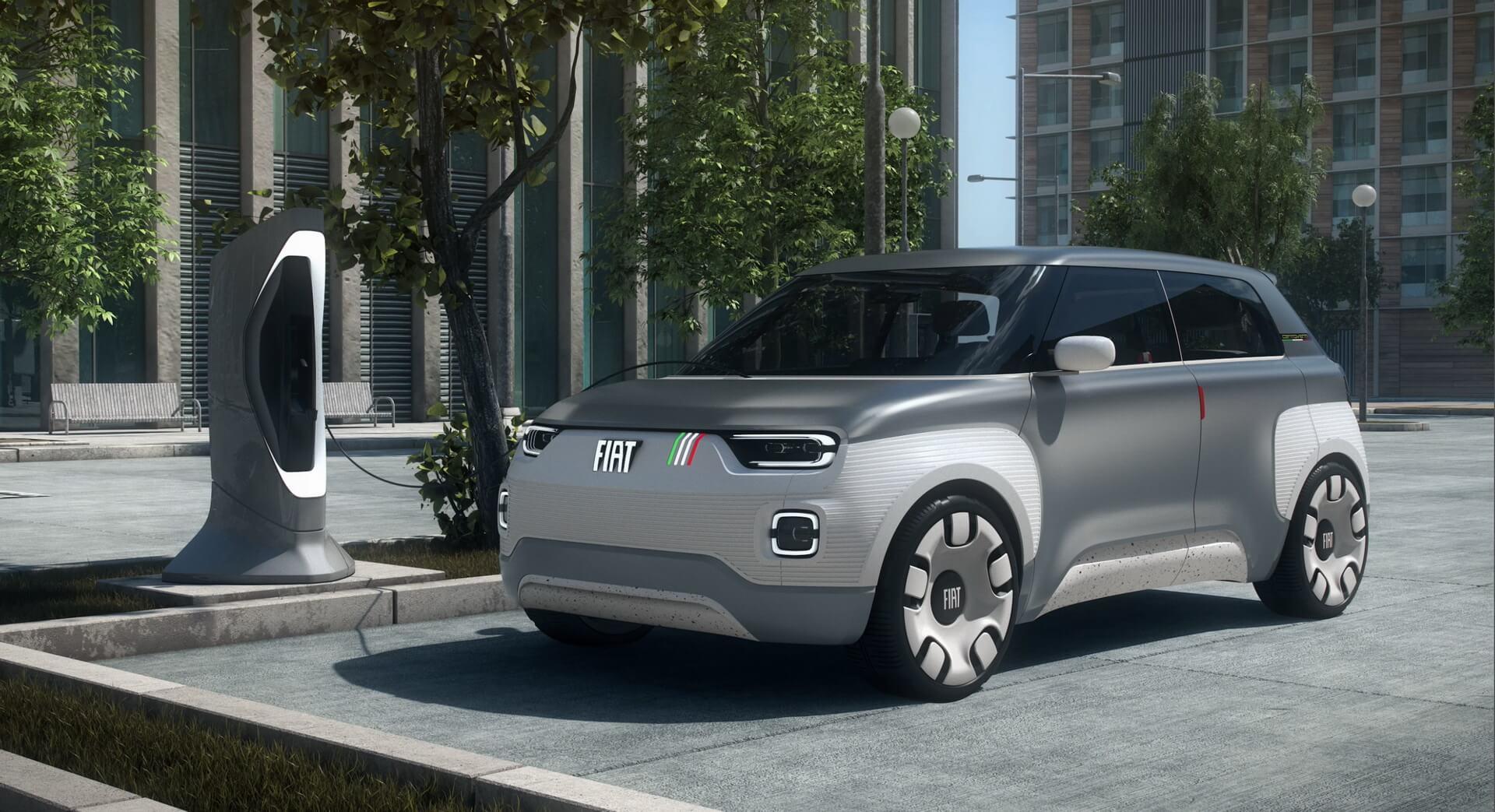 Модульный электромобиль Fiat Concept Centoventi с полной настройкой под клиента