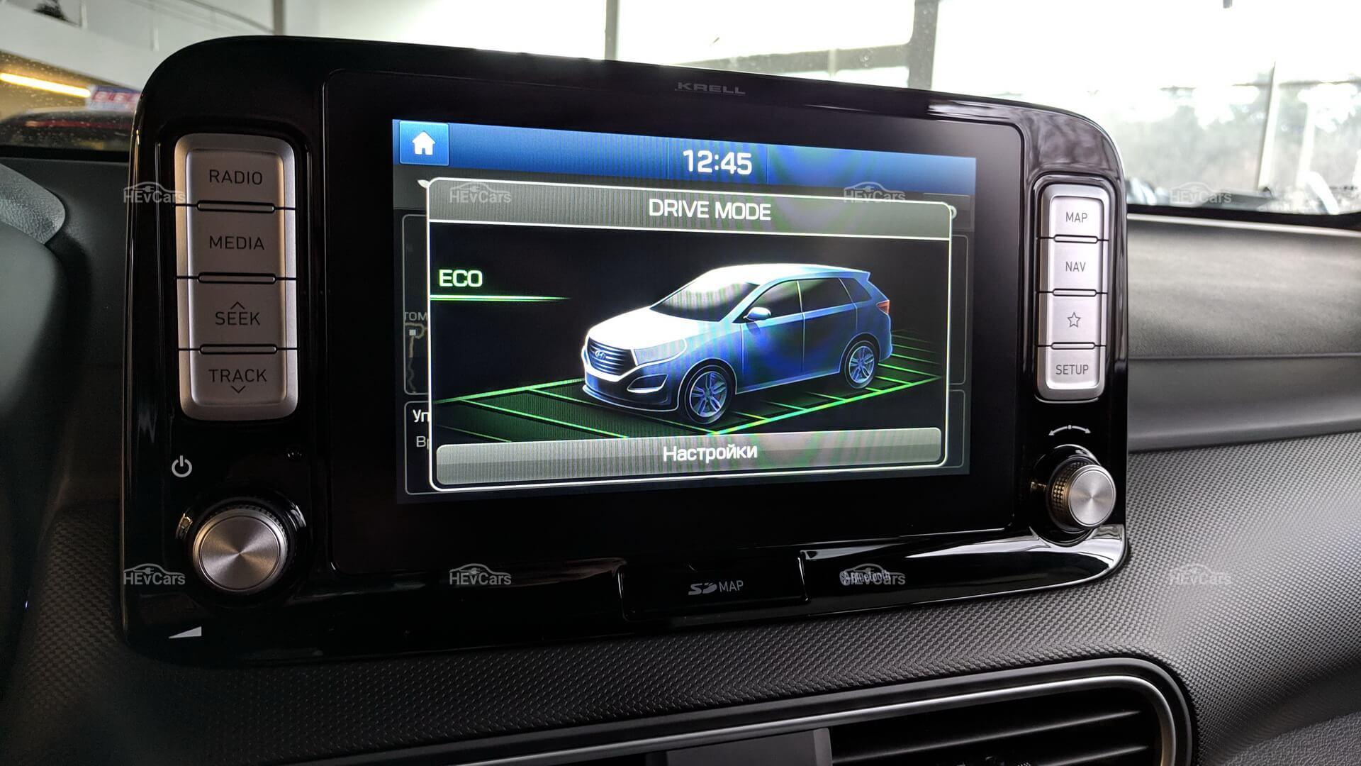 Экономичный режим в Hyundai Kona Electric