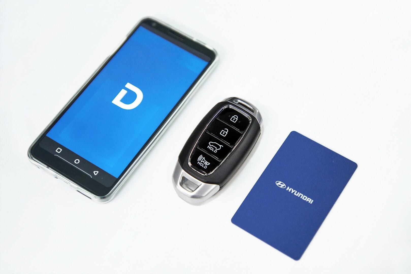 Hyundai разрабатывает цифровой ключ набазе приложения для смартфона