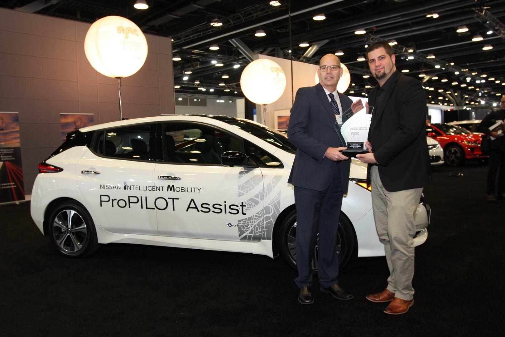Nissan Leaf назван «зеленым автомобилем 2019» года в Канаде