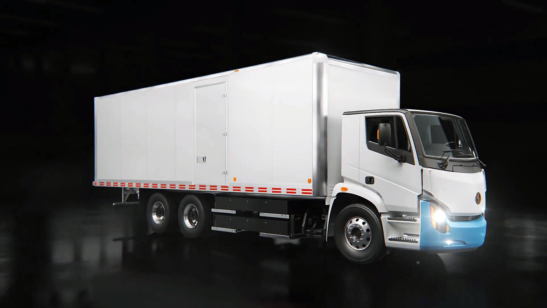 Полностью электрический городской грузовик класса 8 от компании Lion Electric