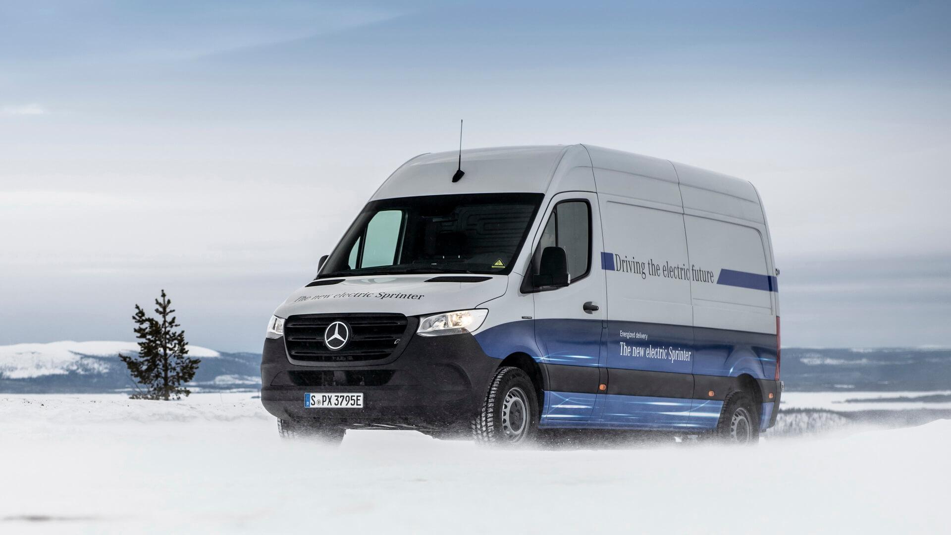 Mercedes-Benz провел зимние испытания фургона eSprinter