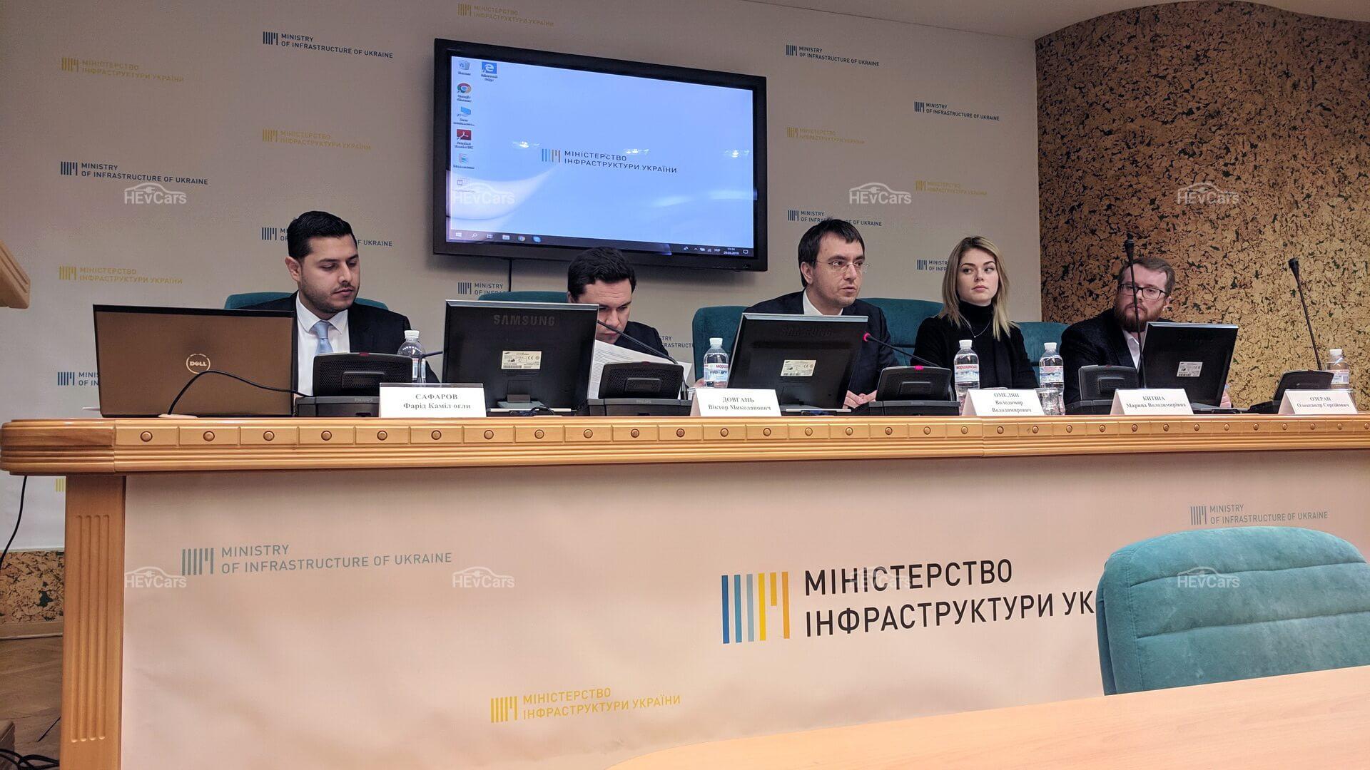 Создана рабочая группа для решения проблем электромобильной отрасли Украины
