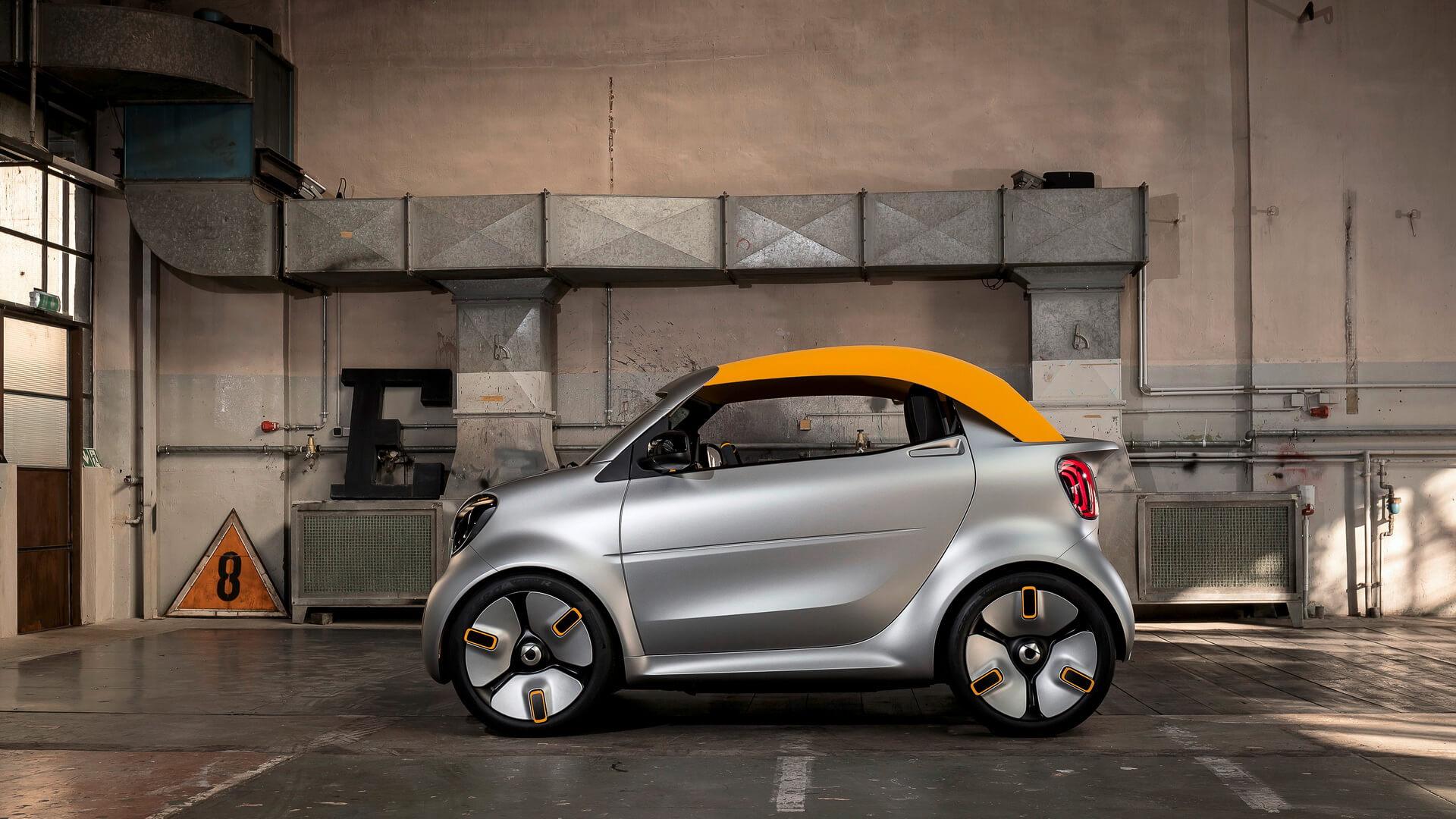 Электрический кабриолет сосъемной крышей Smart Forease +