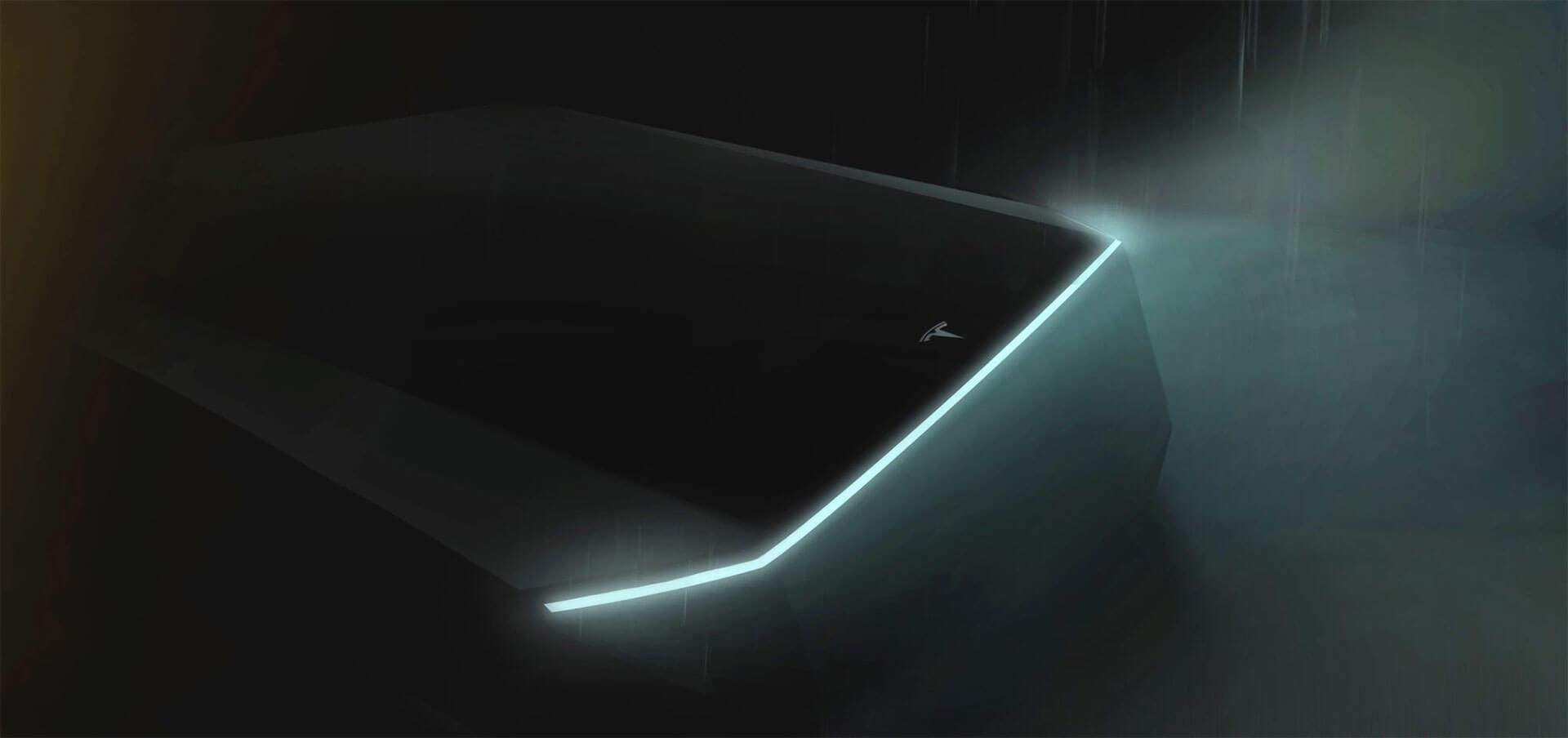 Илон Маск показал фото-тизер электрического пикапа Tesla