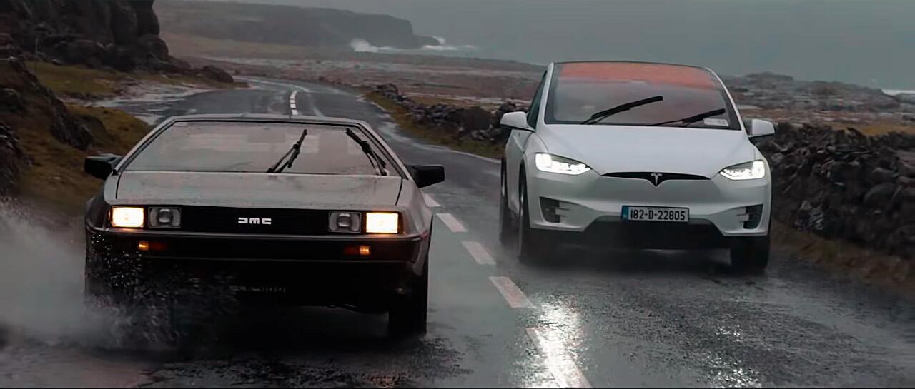 DeLorean и Tesla Model X