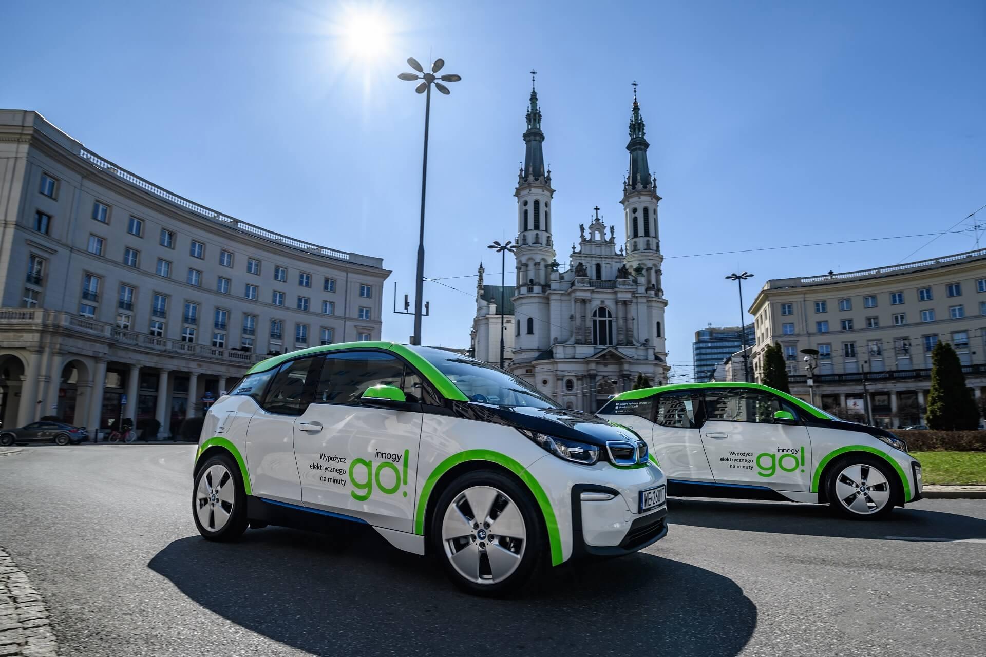 В Варшаве доступен самый большой в мире парк BMW i3 для совместного использования