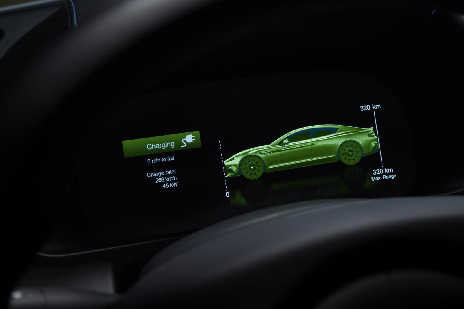 Показатель запаса хода Aston Martin Rapide E