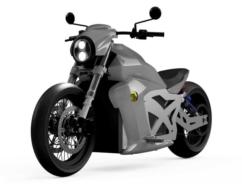 Evoke Motorcycles представил дизайн нового электрического мотоцикла 6061