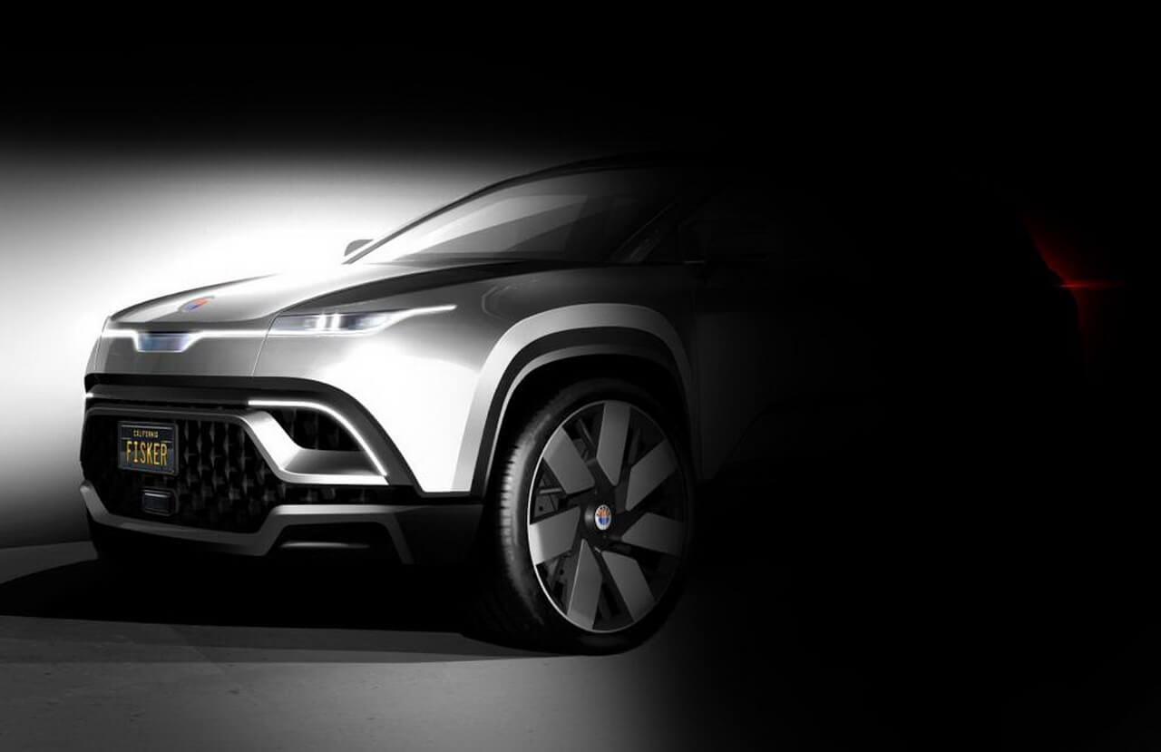 Fisker представил новый тизер передней части будущего электромобиля